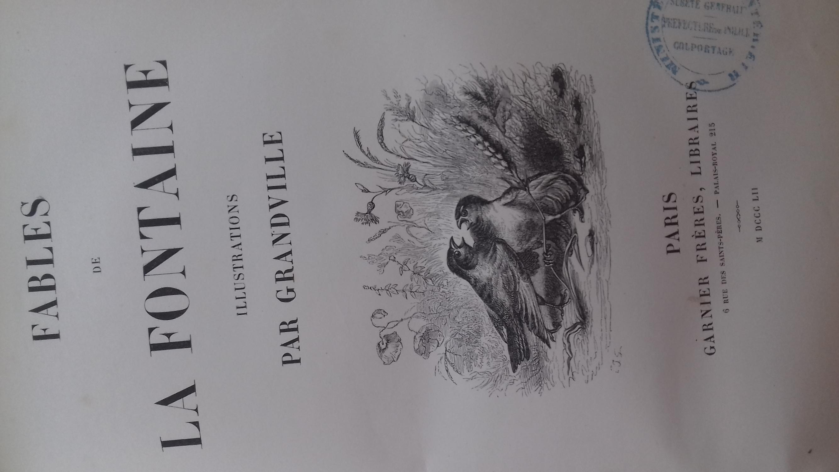Fables by jean de la fontaine: Bon Couverture rigide (1852 ...