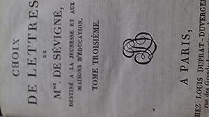 choix de lettres: madame de sevigne