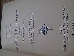 comédies et proverbes 1834-1835: alfred de musset