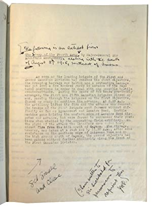 Only This, A War Retrospect. The Manuscript: PEDLEY, James H.