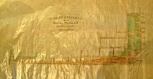 Plan of Property. -of the Canada Atlantic: MAP]. [Ottawa Manuscript