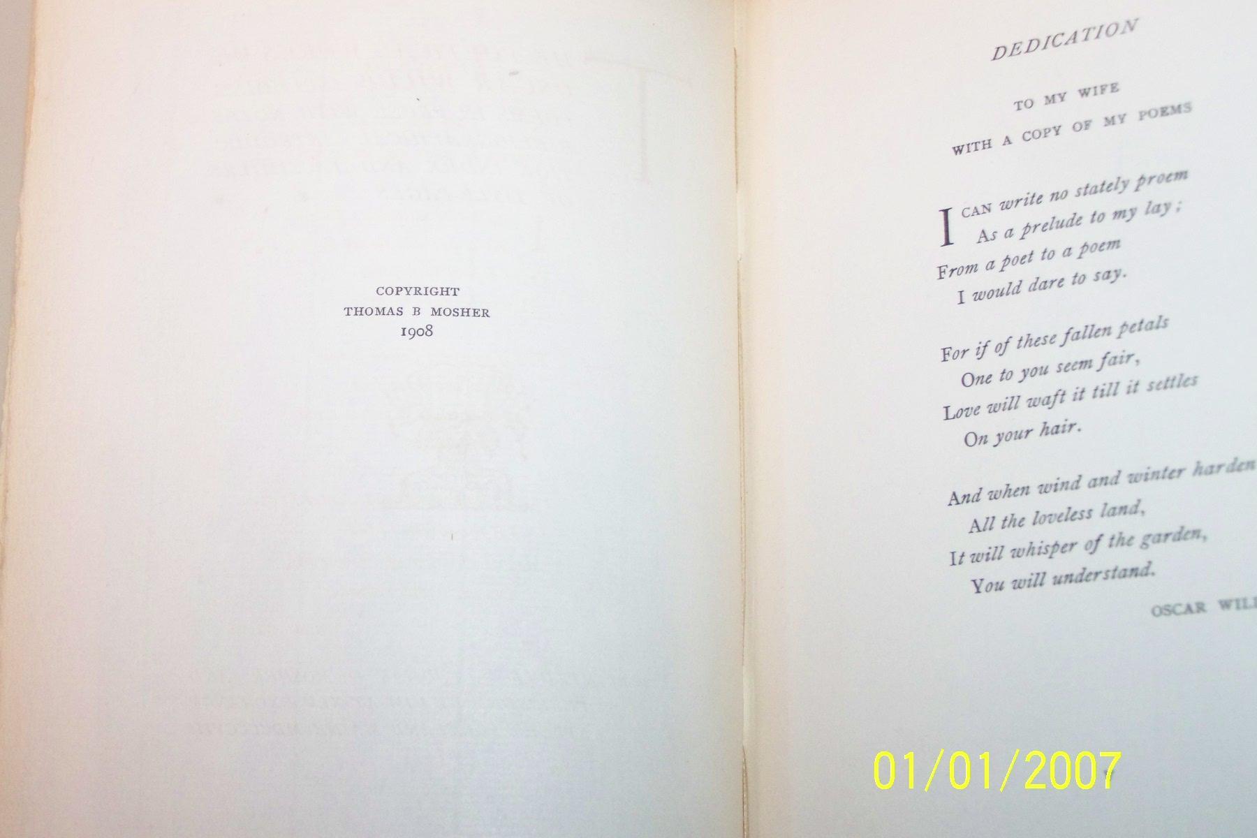 The Poetitical Works Of Oscar Wilde