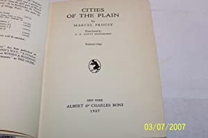 The Cities of the Plain, Two Volumes