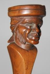 Woodcarved Head on Tall Paper Cutter and/or Bookmark   [Fine] (bi_13593670379) photo