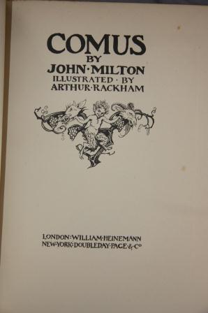 Comus: [Rackham, Arthur]; Milton, John