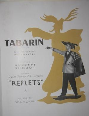 """Tabarin Album Souvenir Tabarin presente le plus Parisien des Spectacles """"Reflets"""""""