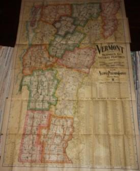 Complete Map of Vermont Showing Highways & Natural Features with an Index of All Cities, ...