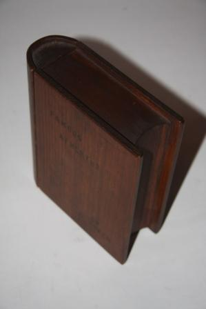 """Faux Book] Trick Lockbox Shaped Like a Book and Bearing the Title """"Famous Athletes"""": ..."""