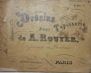Dessins Pour Papisserie. No. 401. Recueil de Motifs et d'Alphabets Colories pour travaux en ...