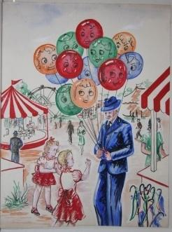 Untitled [The Adventure of the Balloons in Upside Down Land]: Alberin (?)
