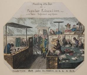 """Print] """"Pleadings at the Bar"""" or Popular Education -- a Farce, Performed every Sessions. ..."""