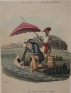 Print] Innocent Amusements. Bottling Off the Ganges