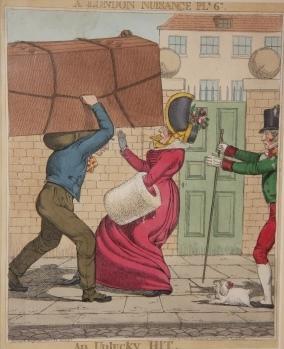 [Print] A London Nuisance Ple. 6th. An Unlucky Hit: Dighton, Richard