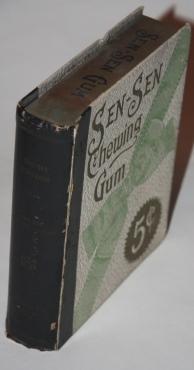 "Faux Book] Sen-Sen Chewing Gum Box. ""Dainty Morsels"". Sen-Sen Library Edition."