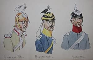 World War One Sketchbook of Original Watercolor and Ink Caricature and Cartoons: Cheuillotte, J.