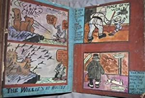 Cartoons of the Great War. World War One Album of Colorful Cartoons and Caricatures, possibly by a ...