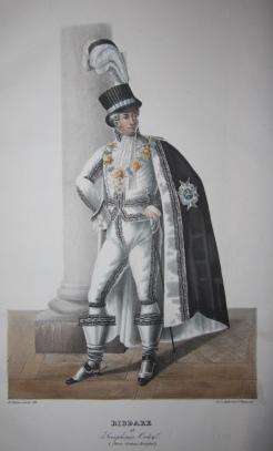 Kongl: Svenska Riddare Ordnarnes Gragter Svenska Ordens-Costymer: Schutzerschrantz, Adolf Ulric
