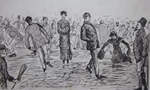 Drawing of Skaters