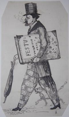 Caricature of the Author Philip James Bailey (1816-1902)