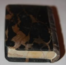 Faux Book] Near Miniature Stone Book Made of Three Types of Marble