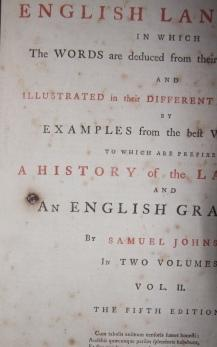 A Dictionary of the English Language in which the Words are deduced from their Originals, and ...