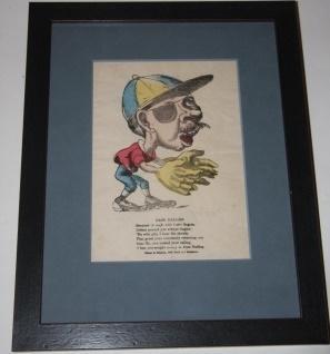 "Early Baseball Ephemera] Humorous Mid-Nineteenth Century Valentine ""Base Baller"""