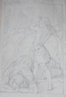 Six Original Pencil Sketches of Scenes from the Bible by Sir John Tenniel