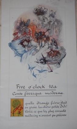Five o'clock Tea Conte Feerique Moderne par Jean Richepin: Richepin, Jean. Illustrator: ...