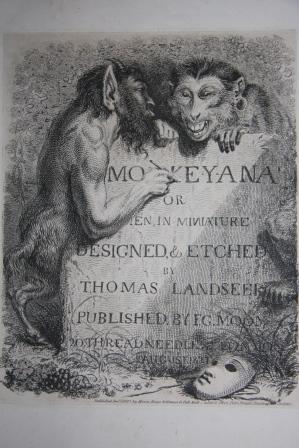 Monkey-ana or Men in Miniature: Landseer, Thomas (1795-1880)