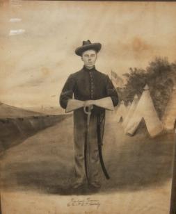 Large Original Encampment Portrait of Richard Pearson, Company K, 6th U.S. Cavalry, Union Army, in ...