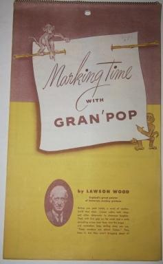 Marking Time with Gran'pop 1950 Calendar: Wood, Lawson (1878-1957)