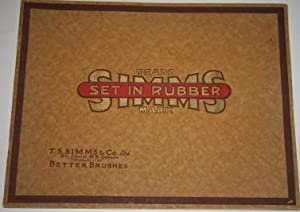 [Trade Catalogue] Set in Rubber. Simms Trade Mark. A Catalogue of Lather Brushes Covering one of ...