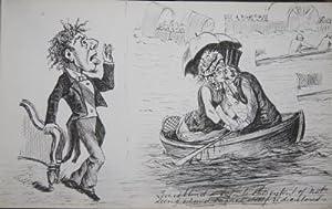Album of Original Pen-and-Ink Victorian Caricature and Cartoons