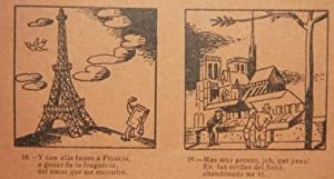 "Broadside] ""Auca"" de la Vida y Adventuras de un libro Viejo [Story and Adventures of an ..."