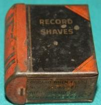 Faux Book] Record Shaves Tin: Gem Blades