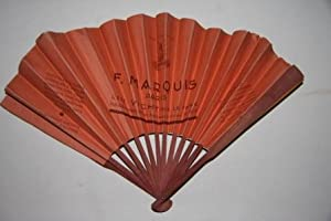 F. Marquis Paris Advertising Fan with Japanese-Style Illustration on Front Side