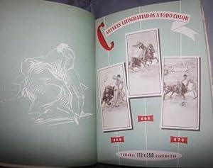 Catalogo de propagana taurina 1961. Imprenta-Litografia Ortega Valencia-Espana. Catalogo Muestrario...