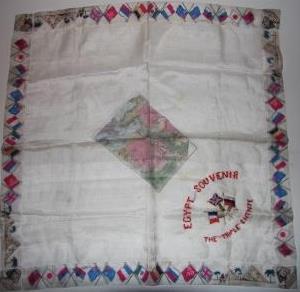 Handkerchief] Egypt. Souvenir The Triple Entente