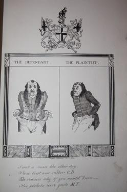 Manuscript of caricatures: Williams, Edward