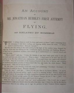 The Account Mr. Jonathan Bubble's First Attempt at Flying, As Related by Himself: Putnam, ...