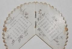 Fan-shaped Calendar for 1899, Compliments of Stickney & Poor Spice Co., Founded 1815