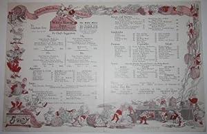 Menu for Ye White Horse Inn, 114 West 45th Street, New York: Hammell, Will (1888-1963)