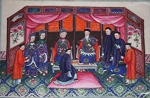 Ten Chinese Gouache Paintings on Pith Paper of Ceremonial, Pedagogical and Domestic Scenes