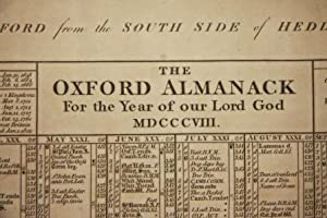 The Oxford Almanack for the Year of our Lord God MDCCCVIII: Turner, I.M.W., artist. [James Mallord ...