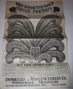 Trade Catalogue] Our Annual Cost Sale Ostrich Feathers