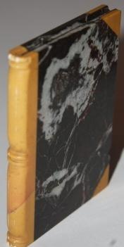 Faux Book] Stone Book made a black marble with crimson veining and a butterscotch-colored marble ...