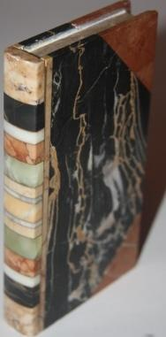 Faux Book] Stone Book with bands of different marbles for the spine