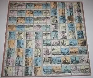 Biedermeier Period Game Board of 84 European City Views