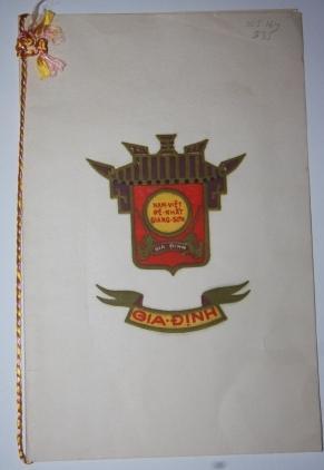 Vietnam War Era New Year's Card from Vietnamese President