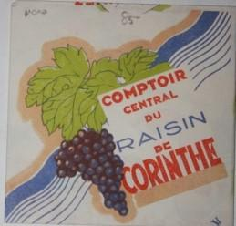 Comptoir Central du Raisin de Corinthe